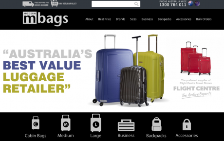 Modern Bags Portfolio Image by Eazy Digital Melbourne